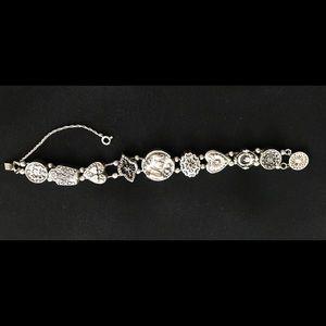 Hughes Vintage Sterling Silver Slide Bracelet